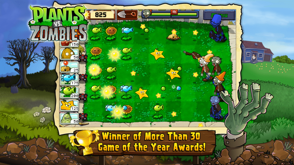 Plants vs Zombies mobile strategy game